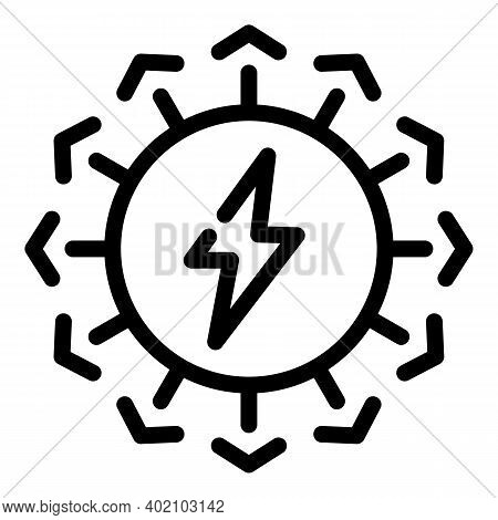Electricity Bio Icon. Outline Electricity Bio Vector Icon For Web Design Isolated On White Backgroun
