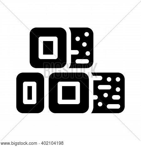 Bio Fuel Briquettes Glyph Icon Vector Illustration