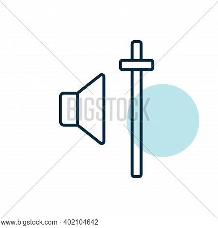 Audio Volume Slider Control Vector Icon. Graph Symbol For Music And Sound Web Site And Apps Design,