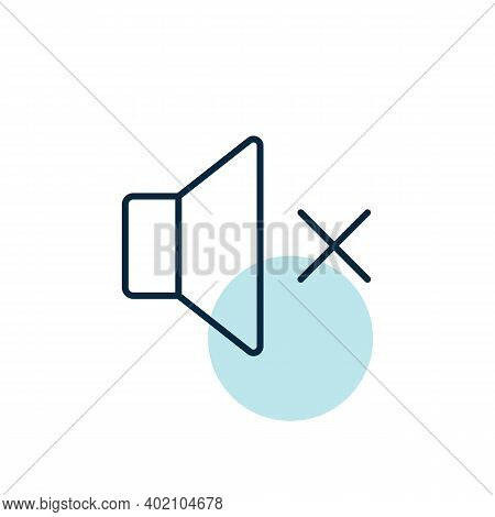 Sound On Off Vector Icon. Volume. Mute Button. Graph Symbol For Music And Sound Web Site And Apps De