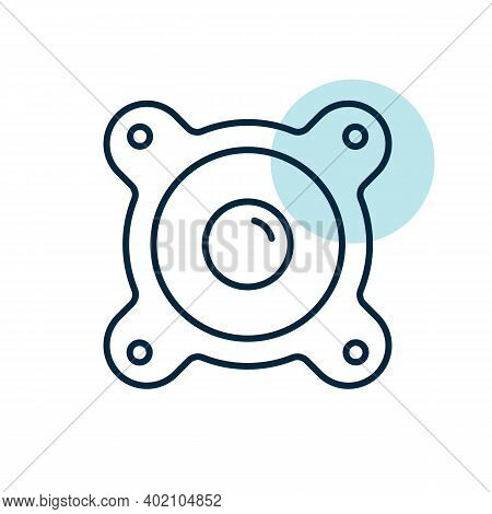 Acoustic Speaker Vector Flat Icon. Graph Symbol For Music And Sound Web Site And Apps Design, Logo,