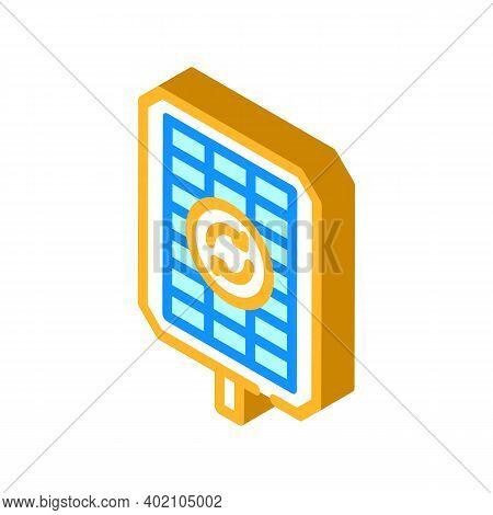 Renewable Energy Isometric Icon Vector Illustration Color
