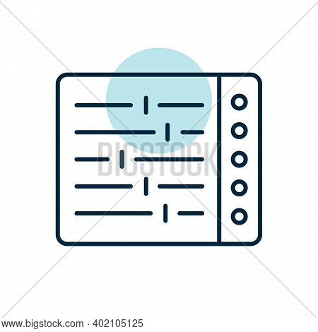 Mixing Console Vector Flat Icon. Graph Symbol For Music And Sound Web Site And Apps Design, Logo, Ap