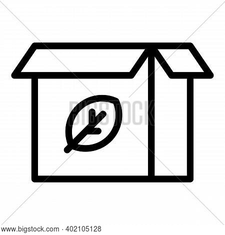 Eco Friendly Box Icon. Outline Eco Friendly Box Vector Icon For Web Design Isolated On White Backgro