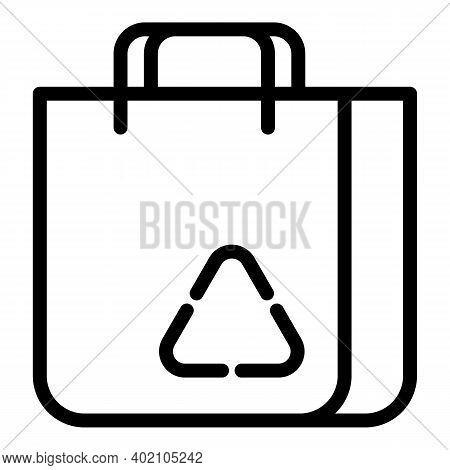 Eco Label Pack Icon. Outline Eco Label Pack Vector Icon For Web Design Isolated On White Background