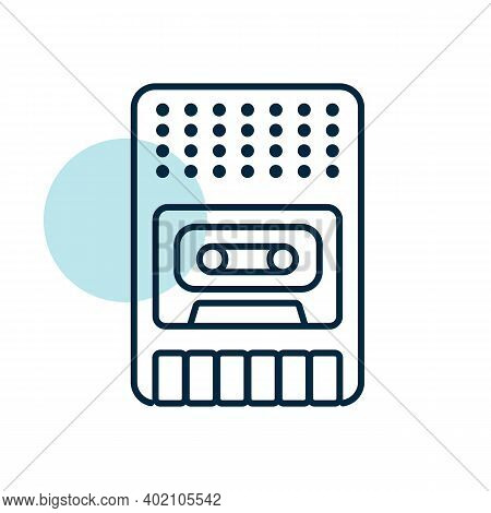 Vintage Audio Tape Recorder Vector Icon. Graph Symbol For Music And Sound Web Site And Apps Design,