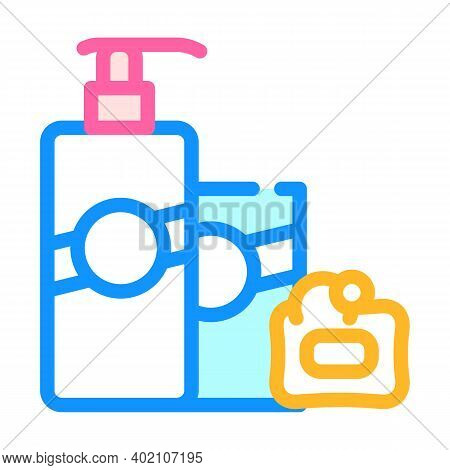 Soap And Hand Cleanser Color Icon Vector Illustration