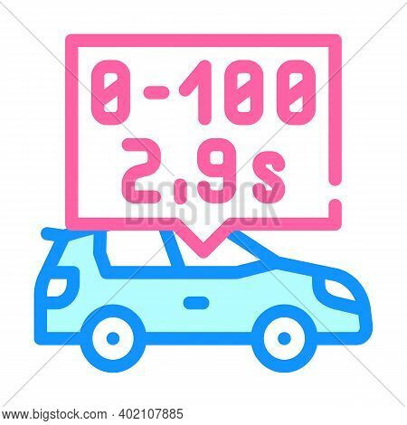 Characteristics Of Electric Car Color Icon Vector Illustration