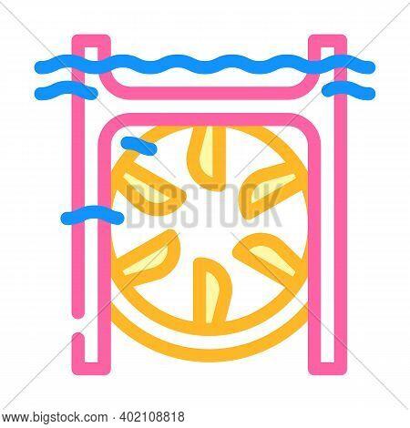 Submarine Tidal Power Plant Color Icon Vector Illustration