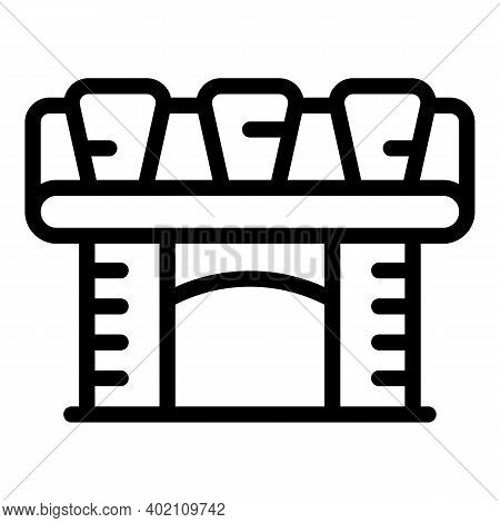 City Infrastructure Icon. Outline City Infrastructure Vector Icon For Web Design Isolated On White B