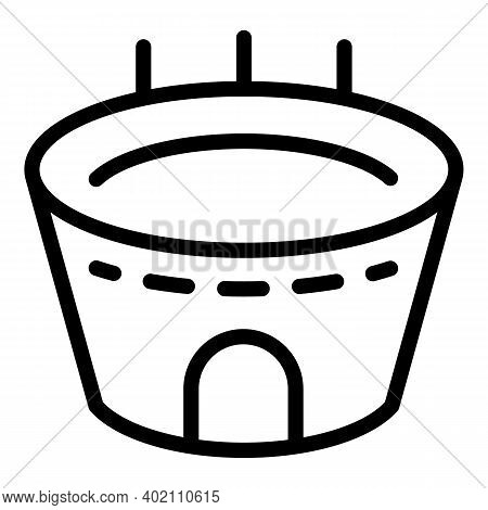 City Attraction Icon. Outline City Attraction Vector Icon For Web Design Isolated On White Backgroun