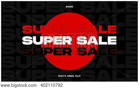 Sale Poster Vector Illustration On Black Background. Urban Style. Trap Style. Bold Typography. Bruta