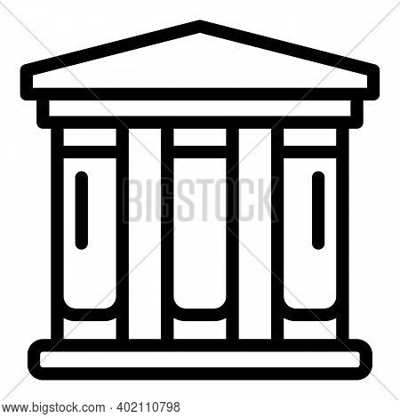 City Temple Icon. Outline City Temple Vector Icon For Web Design Isolated On White Background