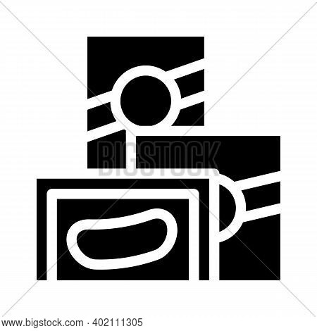 Milk And Hair Emulsion Glyph Icon Vector Illustration