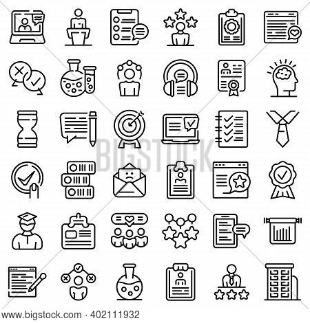 Experience Icons Set. Outline Set Of Experience Vector Icons For Web Design Isolated On White Backgr