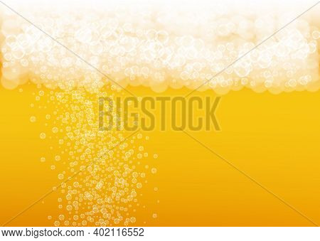 Splash Beer. Background For Craft Lager. Oktoberfest Foam. Restaurant Banner Design. Bavarian Pint O