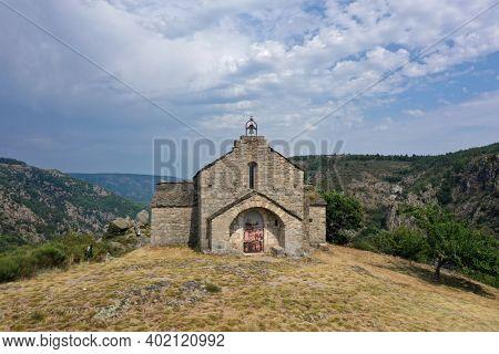 Chapel Saint-Loup at Villefort on the mountain top. Seventeenth century.