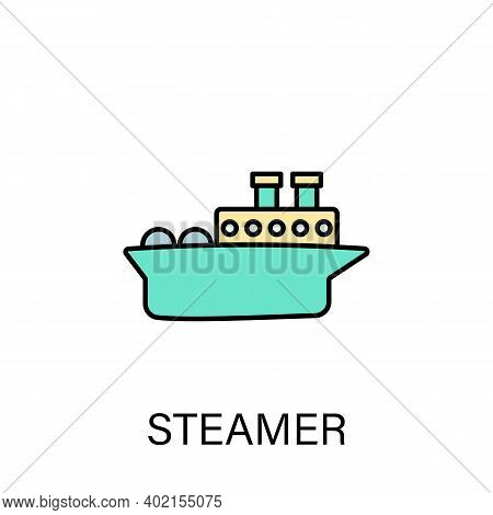 Steamer Ship Sea Transport Outline Icon. Signs And Symbols Can Be Used For Web, Logo, Mobile App, Ui