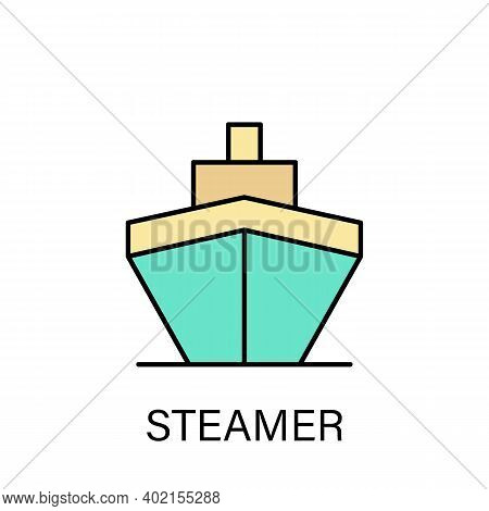 Streamer Sea Transport Outline Icon. Signs And Symbols Can Be Used For Web, Logo, Mobile App, Ui, Ux