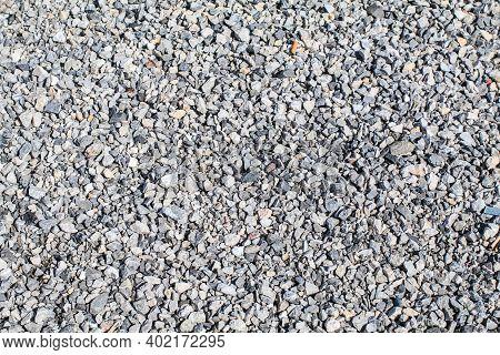 Big Granite Rock Stone On. Natural Stone. Grey, Black And White Granite Texture, Granite Surface And