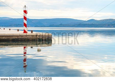 Lighthouse On Coast To Serve As Navigational Aid At Sea, Mark Dangerous Coastlines, Hazardous Shoals