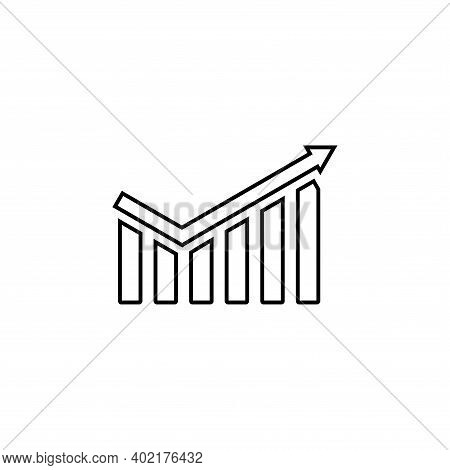 Profit Growing Icon. Isolated Vector Icon. Progress Bar. Growing Graph Icon Graph Sign. Chart Increa