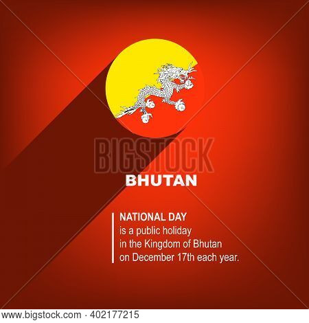 National Holiday In Bhutan - National Day Of Bhutan. Poster For Event