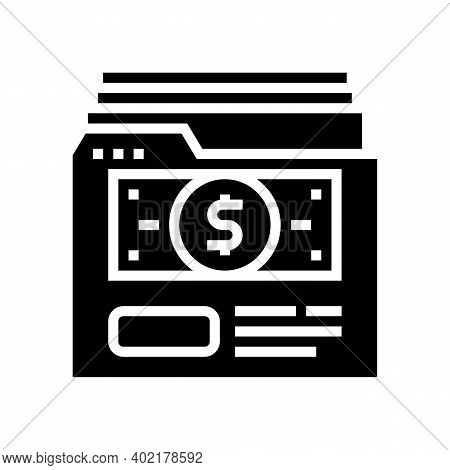 Investment Archive Folder Glyph Icon Vector. Investment Archive Folder Sign. Isolated Contour Symbol