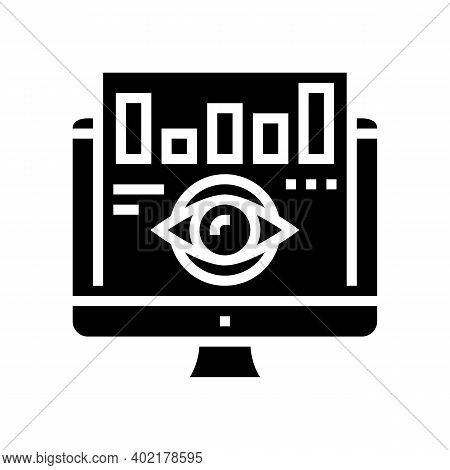 Vision Market Infographic Glyph Icon Vector. Vision Market Infographic Sign. Isolated Contour Symbol