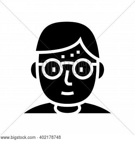 Geek Human Glyph Icon Vector. Geek Human Sign. Isolated Contour Symbol Black Illustration