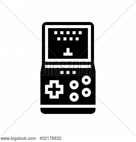Gaming Geek Glyph Icon Vector. Gaming Geek Sign. Isolated Contour Symbol Black Illustration