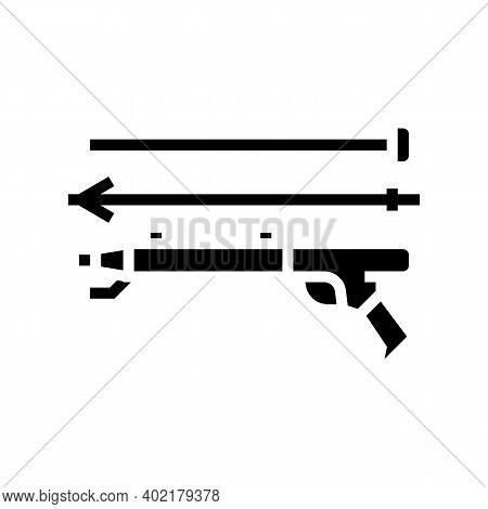 Harpoon Weapon Glyph Icon Vector. Harpoon Weapon Sign. Isolated Contour Symbol Black Illustration