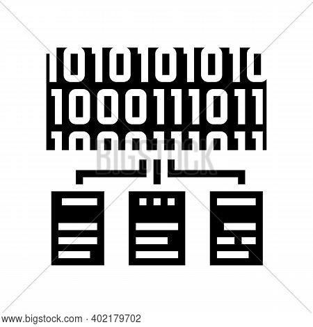 Files Encryption Glyph Icon Vector. Files Encryption Sign. Isolated Contour Symbol Black Illustratio