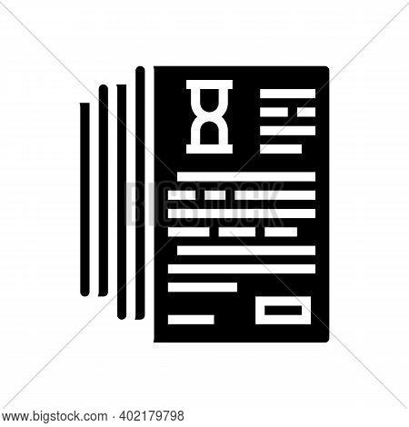 Documentation Lists Heap Glyph Icon Vector. Documentation Lists Heap Sign. Isolated Contour Symbol B