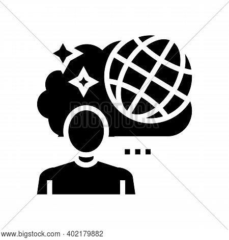 Travel Nostalgia Glyph Icon Vector. Travel Nostalgia Sign. Isolated Contour Symbol Black Illustratio