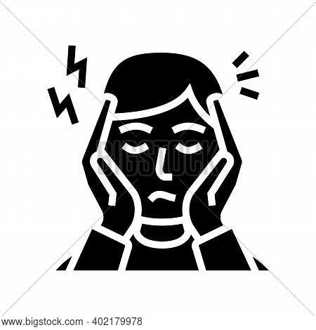 Depression, Nervous Disorder Glyph Icon Vector. Depression, Nervous Disorder Sign. Isolated Contour