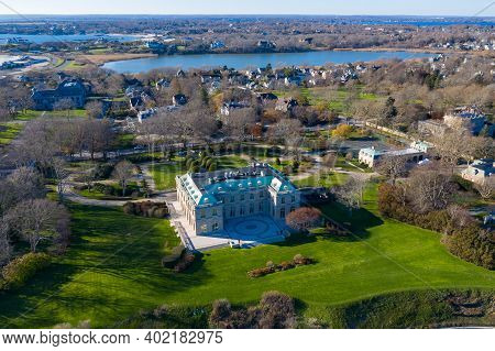Newport, Rhode Island - Nov 29, 2020: Miramar Is A 30,000-square-foot French Neoclassical-style Mans