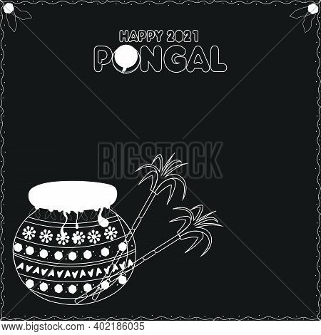 South Indian Festival Happy Pongal Background Template Design