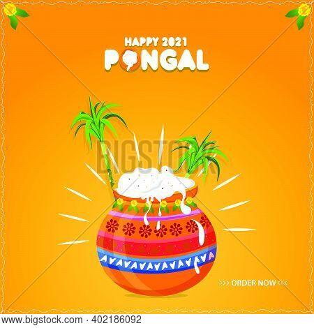 Happy Pongal Celebration Greeting Card Design Backgrounds