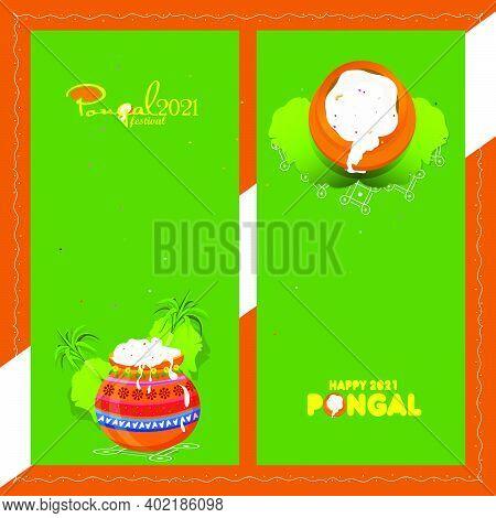 Pongal Festival Offer Banner Design, Social Media Post Templates, Banners Set