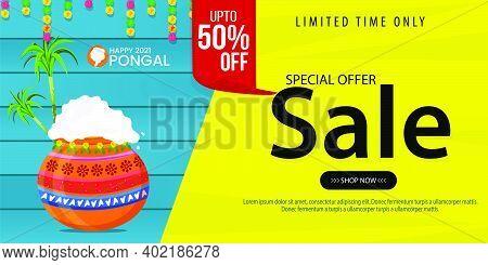 Pongal Festival Sale Template Design - Indian Religion Festival Pongal Background