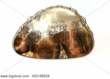 Agate Mineral With Appearance Look Like Landscape Painting (landscape Agate). Found In Russia