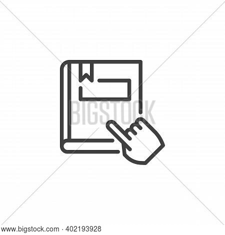 Reading Book Line Icon. Linear Style Sign For Mobile Concept And Web Design. Ebook Reading Outline V