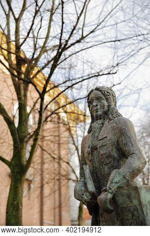 Zierikzee, Netherlands - December 14, 2020: The Statue Of Pieter Mogge (1698, 1756), Unveiled On Nov