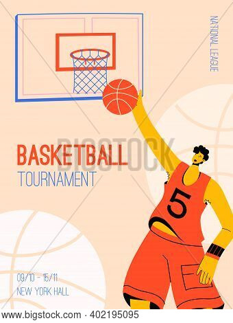 Vector Poster Of Basketball Tournament At National League