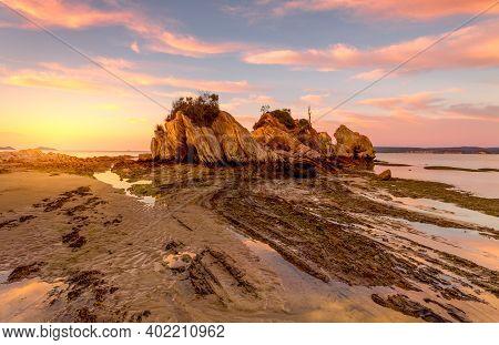 Sunrise From The Rocky Foreshore Batemans Bay Australia