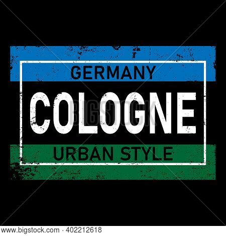 Two Color Cologne Typography Design Vector, For T-shirt, Poster And Other Uses