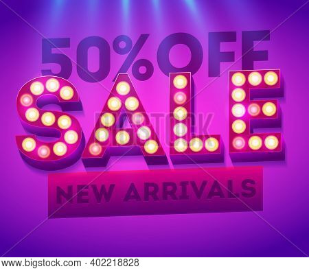 Sale New Arrivals Banner. Sales Templates. Template For Sale And Advertising. Discount Flyer. Sale D