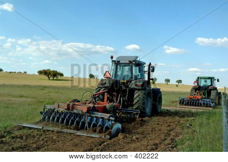 Farmers Cultivating