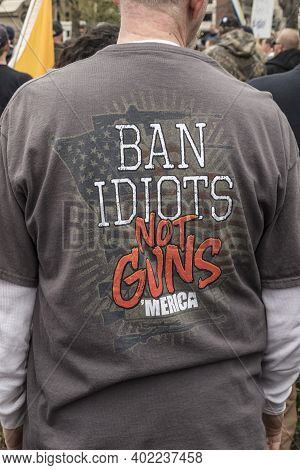 Indianapolis, In Usa April 14, 2018 A Rally Held In Support Of The Second Amendment In Indianapolis